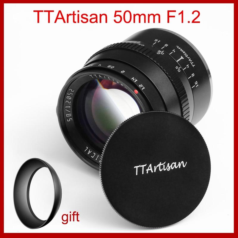 Ttartisan 50mm F1.2 Camera Lens For Fujifilm M4/3 Sony E Canon M M43 Mount Camera Aps-c Camera Lens Large Aperture Manual Focus