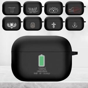 Image 1 - جراب AirPods Pro من السيليكون ، صورة بيضاء ، جراب سماعة أذن Apple AirPod S Pro A2084 A2083
