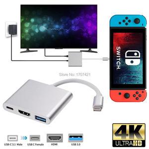 Image 1 - ミニポータブルビデオコンバータ nintend スイッチ ns nx ゲームコンソールテレビ hdmi アダプタ USB3.0 ポートタイプ c テレビベースドックステーション