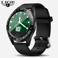 LIGE Luxury Men Smart Watch LED Screen Heart Rate Blood Pressure Multi Function Monitoring Pedometer Sport Waterproof Smartwatch