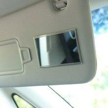Espejo portátil de acero inoxidable para Interior de coche, espejo de maquillaje Universal HD para cosmética, 1 unidad