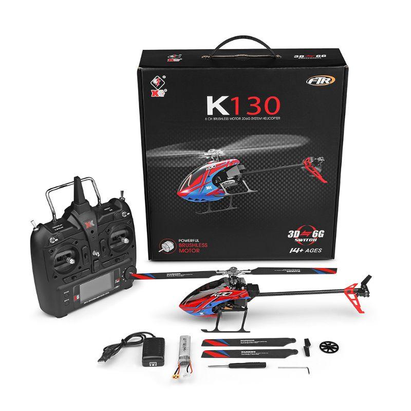 K130 2.4G 6CH Brushless 3D 6G Flybarless System RC Helicopter RTF Super Combo