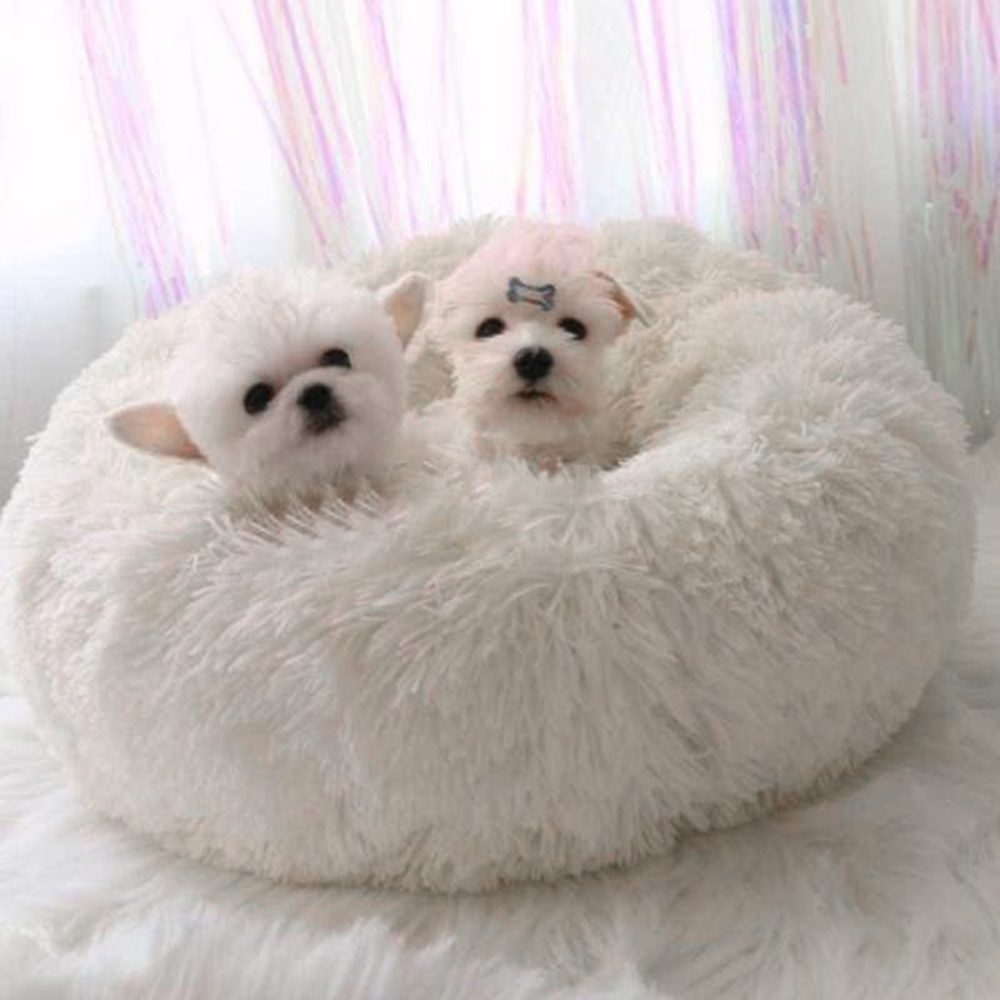 Warm Round Dog Bed Comfortable Kennel Pet House Washable Dog Bed House Soft Nest Winter Sleeping Mat For Dog Cat