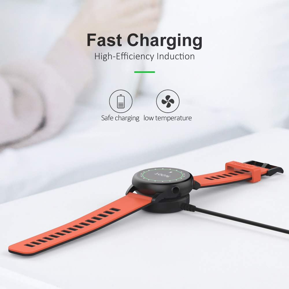 Watch Charger For Samsung Galaxy Watch Active2 40mm 44mm  Portable Wireless Fast Charging Power Source Charger