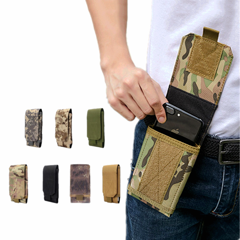 Tactical Army Phone Holder Waist Belt Case Men Chest Bag Outdoor Camouflage Bag Waterproof Nylon Sport Hunting Camo Waist Bags