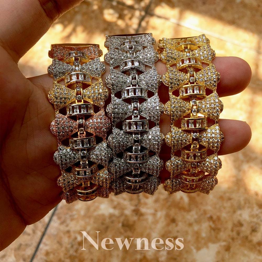 Nouveauté conception de marque spéciale cuivre ensembles de Bijoux femmes filles Bijoux de mariage large Bracelet de mode Bracelet anneau ensemble