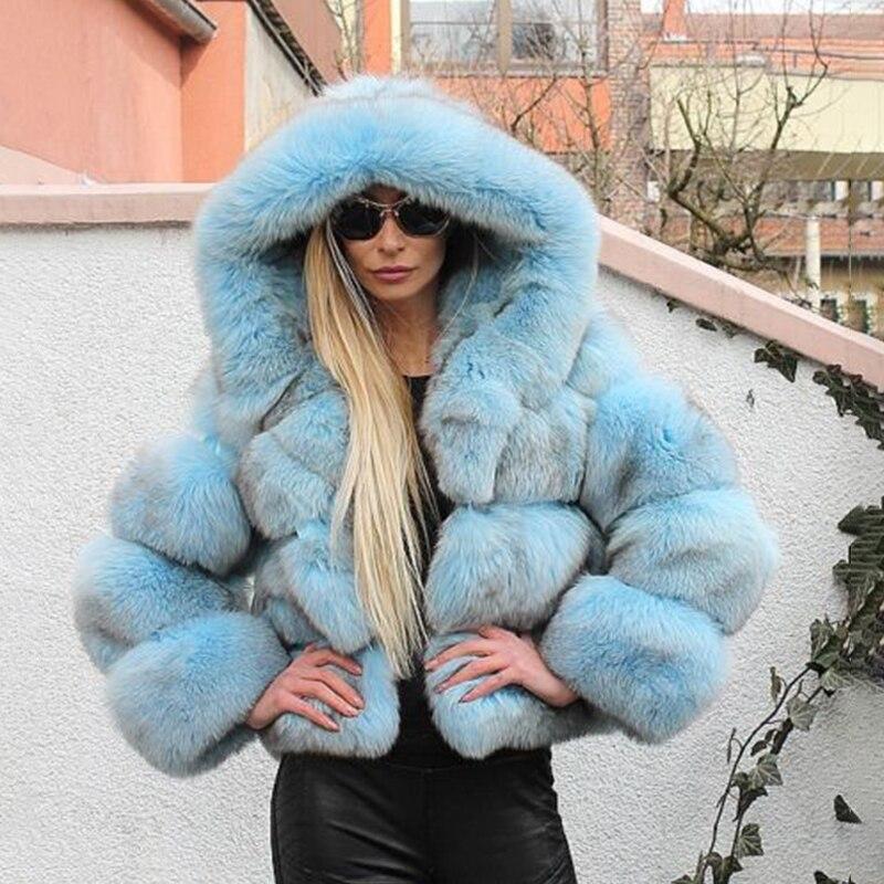 abrigo zorro auténtica mujer 5