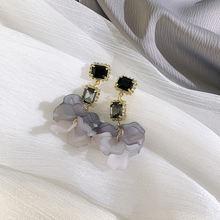 Серьги подвески ustar в Корейском стиле женские квадратные черные