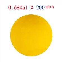 0.68 calibre 200 pces paintballs reutilizáveis riot paint balls novo borracha re-utilizável paintball treinamento bolas elásticas material de borracha