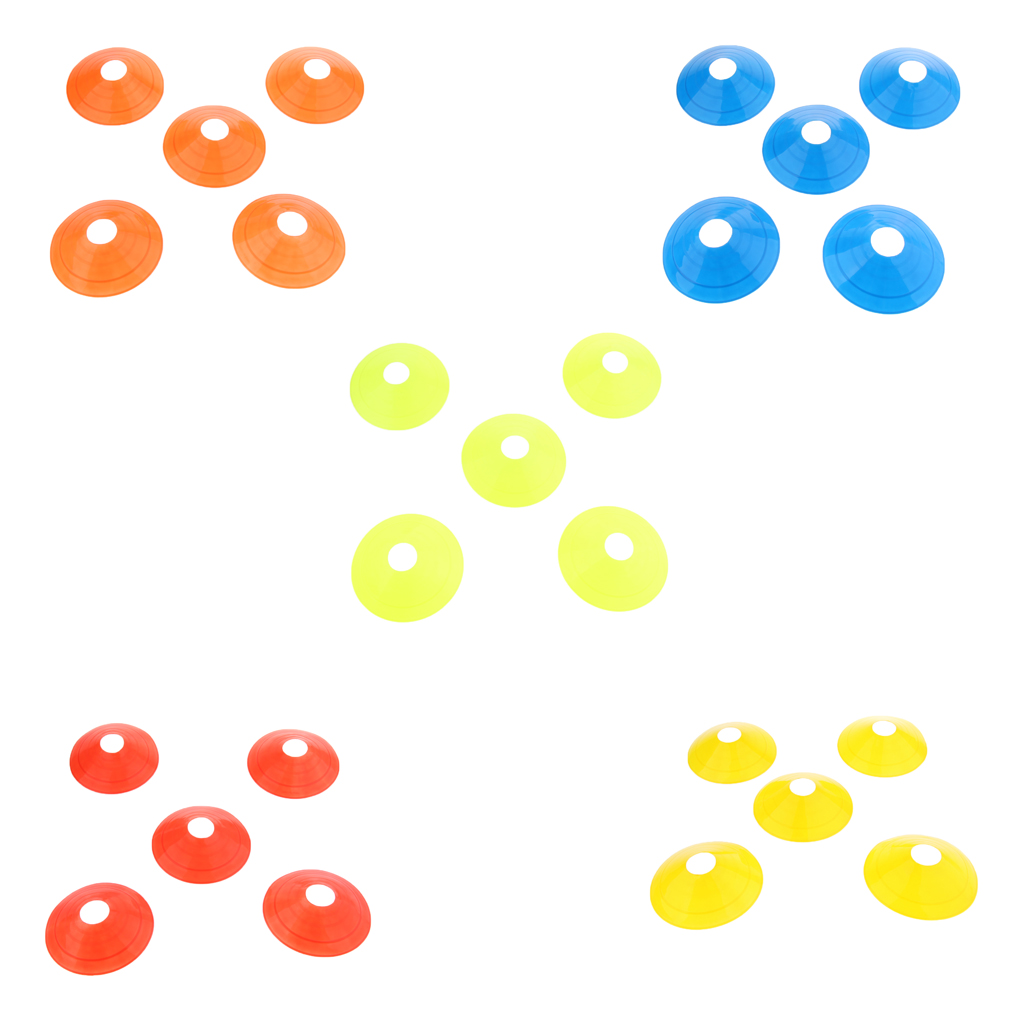 5 Pcs Assorted Color Disc Cones Boundary Marker Agility Training Mini Disc Cones Inline Roller Skating Football Taining Aids
