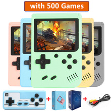 3.0 inch LCD screen Pocket Game Console Retro Gamepad Portable Handheld 500 in 1 Video Games Player with Controller For adults