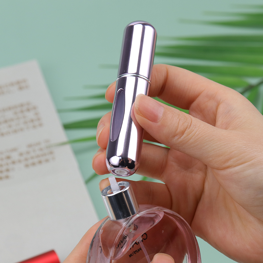 5ml Refillable Portable Travel bottle Mini Refillable Convenient Empty Atomizer Perfume Bottles Cosmetic Containers For Traveler