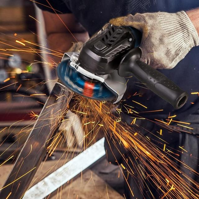 Cordless Angle Grinder 20V Lithium-Ion Battery Machine Cutting Electric Angle Grinder Power Tool By PROSTORMER 6