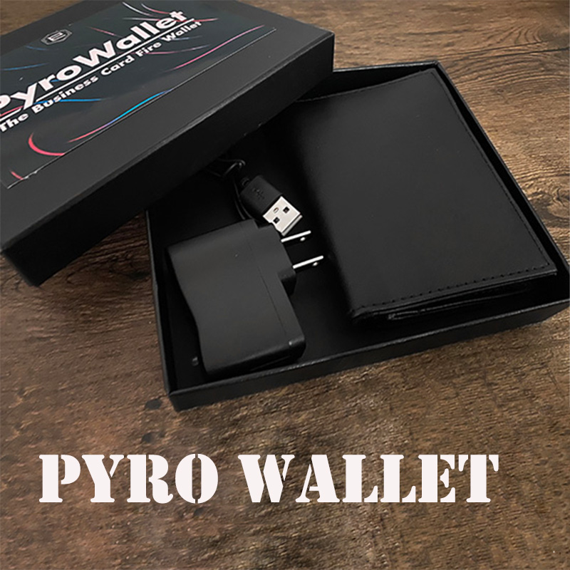 PYRO Wallet Magic Tricks Magician Close Up Street Illusions Gimmick Props Mentalism Funny The Business Card Fire Wallet Magia