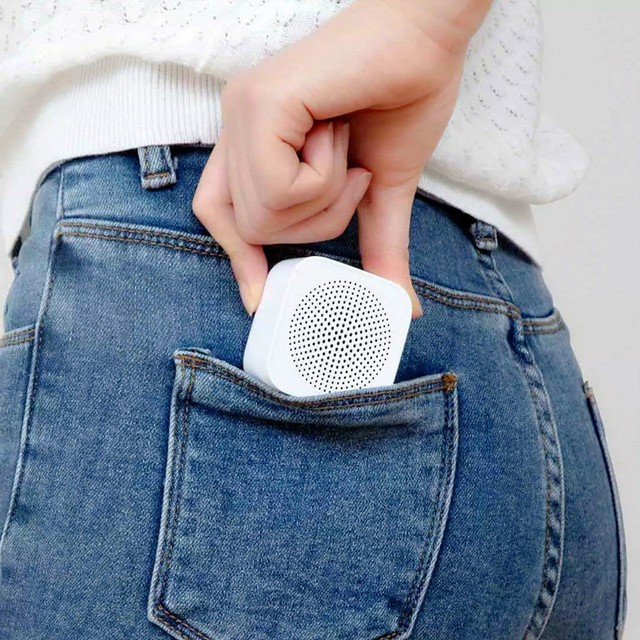 Original xiaomi mijia controle de ia alto-falante bluetooth sem fio portátil mini alto-falante bluetooth estéreo baixo com microfone chamada qualidade hd 5