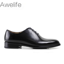 Men's Formal Oxford Shoes Genuine Leather Black Fashion Office Wedding Business Male Dress Shoes Blake Patina Footwear