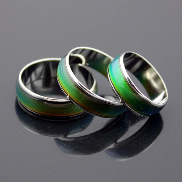 Temperature Changing Color Magic Emotion Feeling Stainless Steel Rings for Women Men Fine Jewelry Feeling Mood Ring bijoux