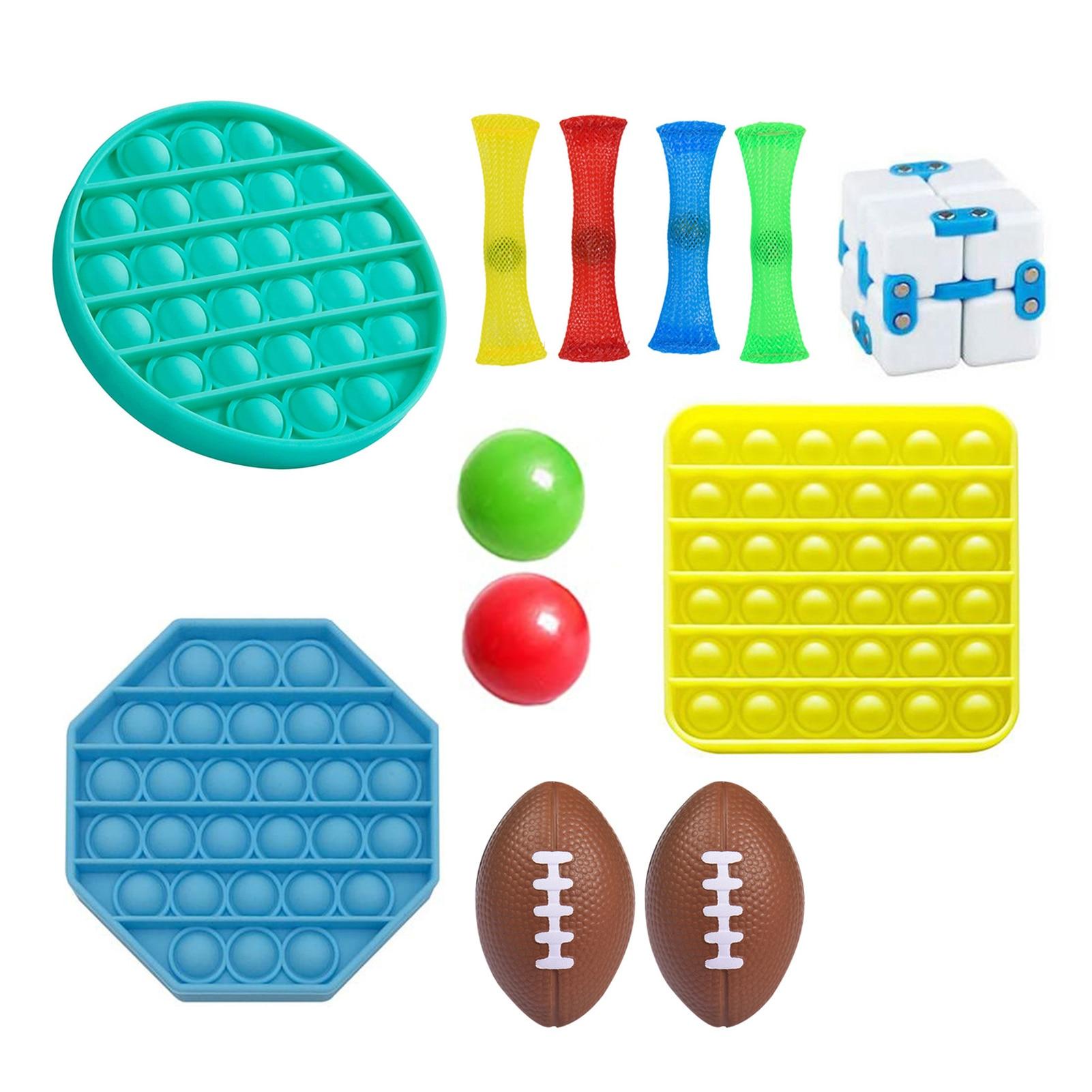 Sensoriel Fidget jouets ensemble soulagement du Stress jouets à main pour adultes enfants sensoriel Fidget jouets ensemble soulagement du Stress jouets à main pour adultes enfants