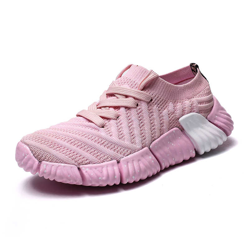 2020 bahar kadın koşu ayakkabıları spor ayakkabı örgü çorap ayakkabı çift rahat Fly örgü Sneakers erkekler eğilim vahşi katı Tenis Masculino