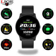 LIGE Men and Women Smart Watch Fitness Smartwatch Blood Pressure Heart Rate Monitor Pedometer Sport Watch Men for Android iOS все цены