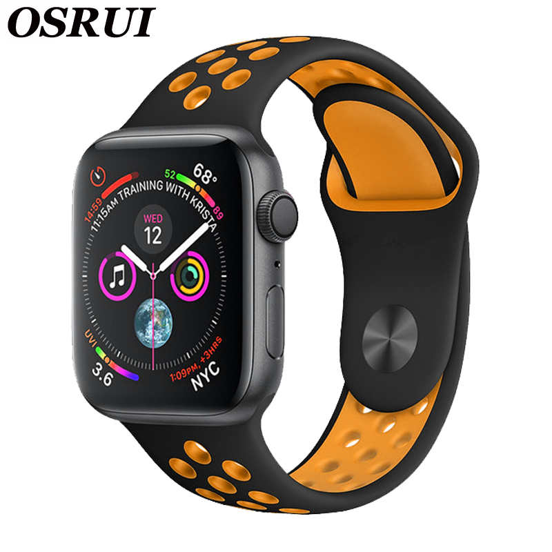 Silicone Strap For Apple Watch Band 42mm/38mm IWatch Band 44 Mm/40mm Breathable Sport Bracelet Watchband For Apple Watch 5 4 3 2