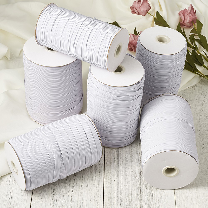 0.3CMElastic Bands For Mask Width Braided Elastic Cord For Crafts,Elastic Rope,Bungee,White Heavy Stretch Knit Elastic