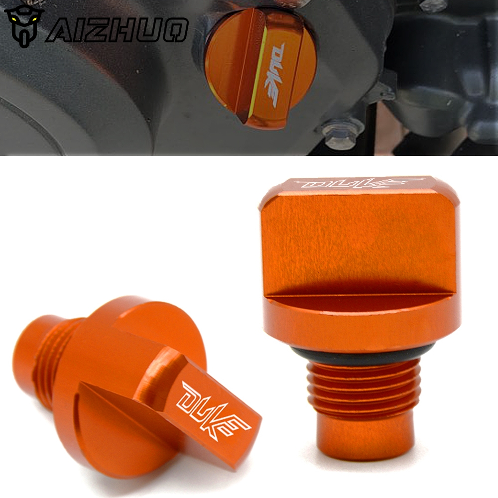 Motorcycle Engine Magnetic Oil Drain Plug CNC Aluminum for KTM DUKE 390 2013-2018 DUKE 125/200 Duke 250 2017 2018 image