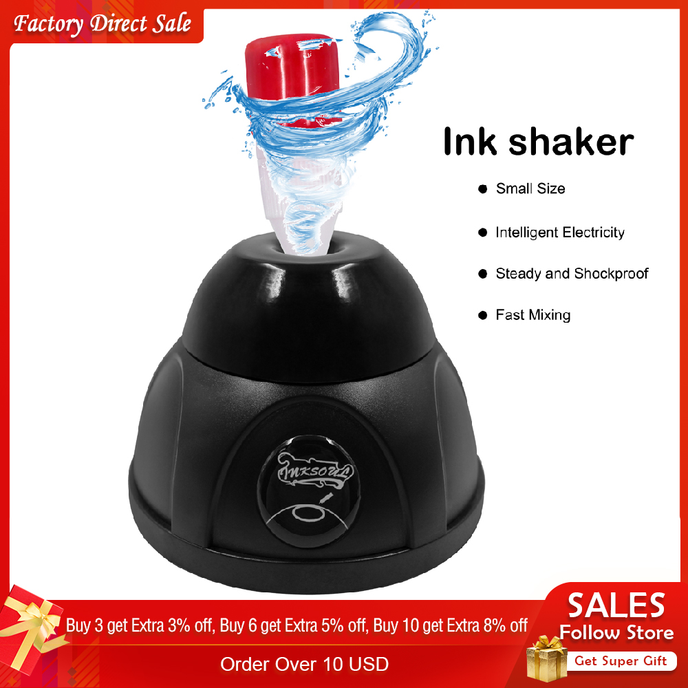 Tattoo Machine Vortex Stirrer Ink Mixer Electric Orbital Tattoo Pigment Ink Shaking Nail Polish Liquid Bottle Shaker For PMU
