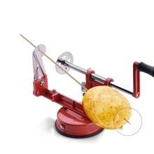 Машина 3 в 1 из нержавеющей стали ручной коленчатый фруктовый Овощечистка с Отсечкой для яблок, картофеля Овощечистка Кухонный инвентарь для тонкой нарезки