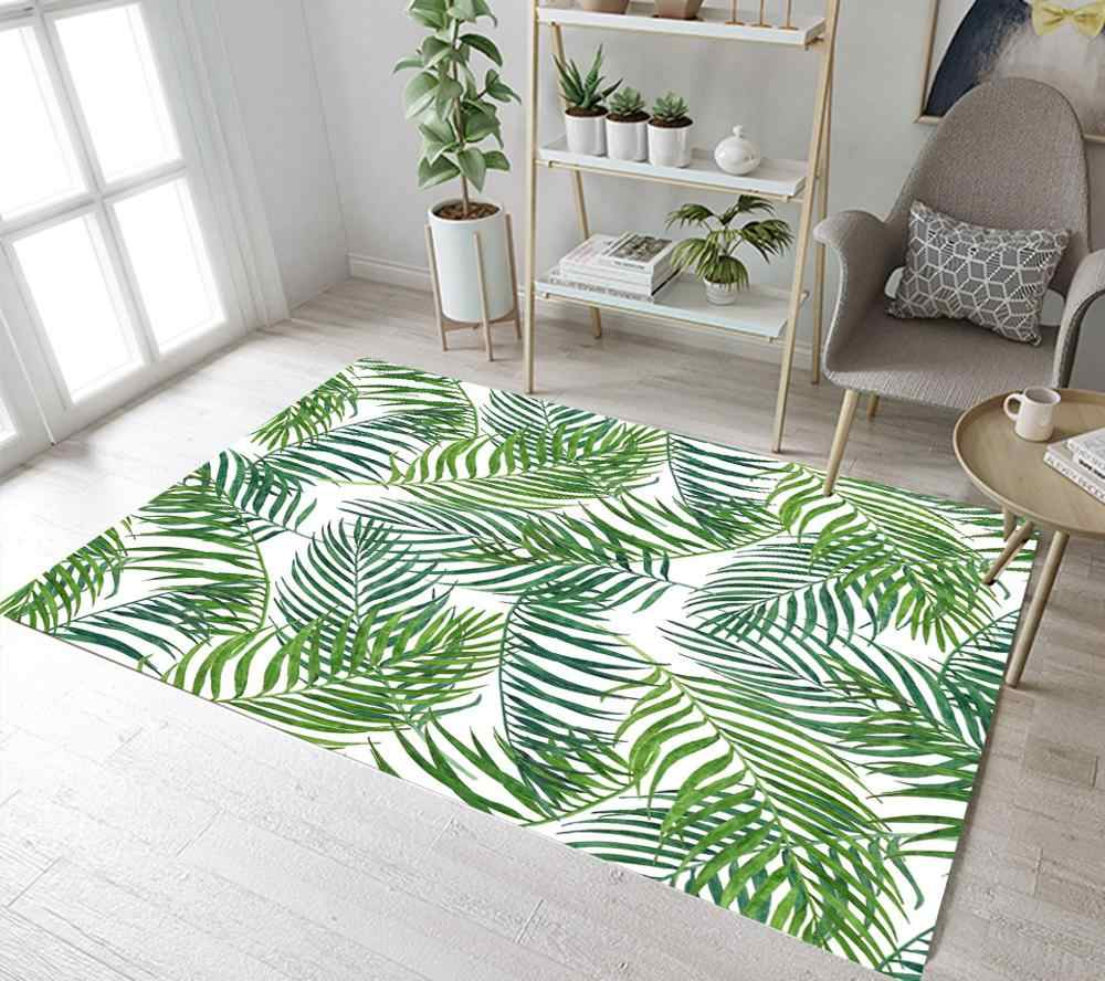 Tropical Palm Leaves Carpets For Living