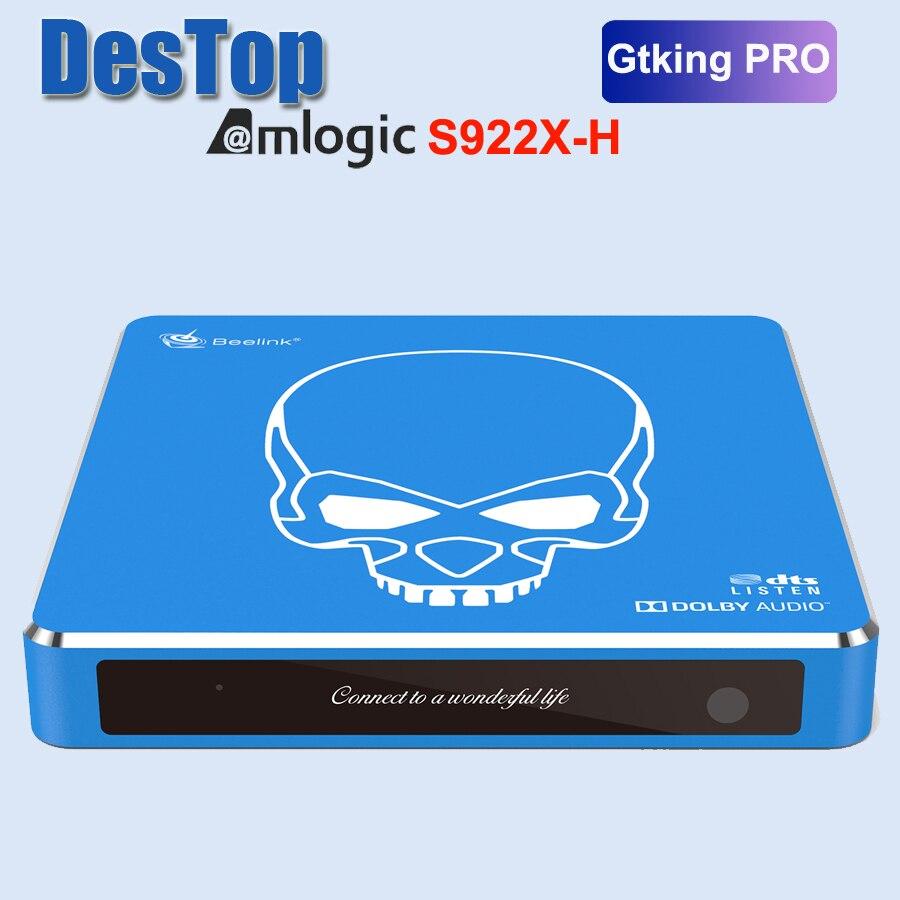 Новое поступление Beelink GT-King Pro Hi-Fi без потерь звук ТВ коробка с Dolby Audio Dts прослушивание Amlogic S922X-H Android 9,0 4 Гб 64 ГБ