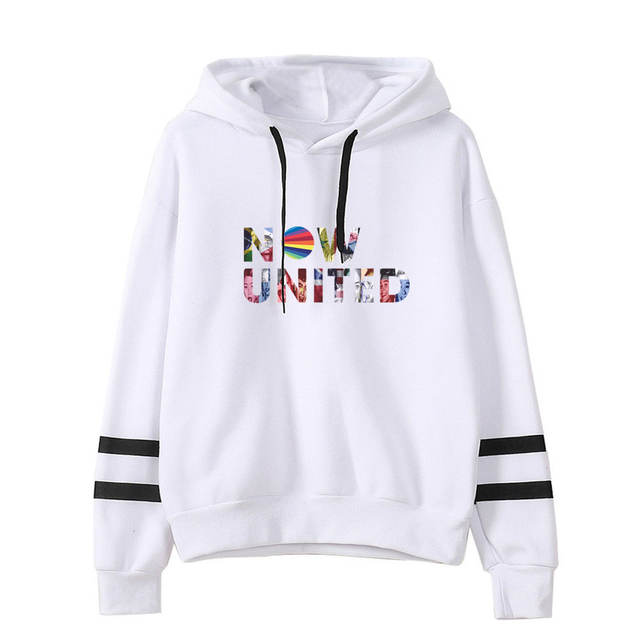 NOW UNITED STRIPED HOODIE