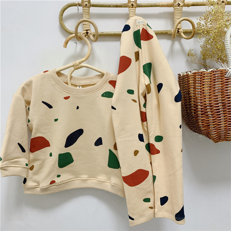 Newborn Sets Unisex Clothes Tops Sweatshirt and Pants Child Boys Casual Fashion Kids Long Sleeve Girl Boy Cotton Clothes Sets 2