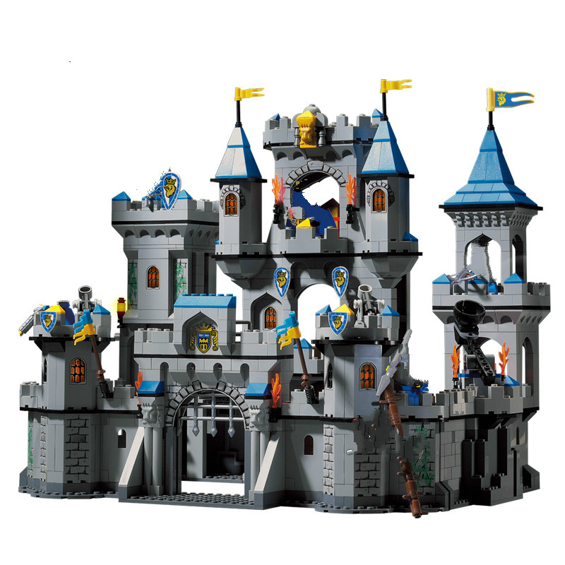 <font><b>Medieval</b></font> <font><b>Castle</b></font> Blocks Knights Crusaders Soldier Rome Spartacus Warrior Figures Pirates Caribbean Pirate Ship Model Bricks Toys image