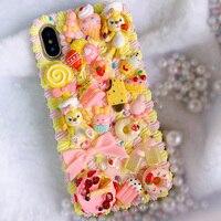 삼성 s8/s9/s10 plus DIY 케이스 Galaxy note 10 plus + note9/note8/note 5 3D 귀여운 강아지 전화 커버 s6/s7 edge creamy handmade