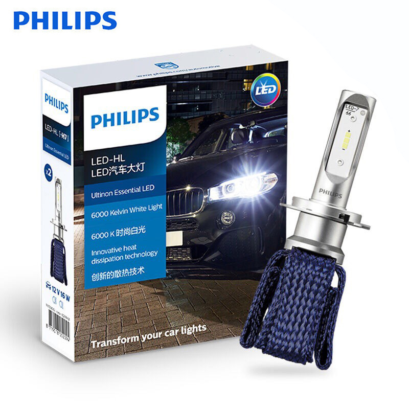 Original <font><b>Philips</b></font> Ultinon Essential <font><b>H7</b></font> <font><b>LED</b></font> Car <font><b>Headlight</b></font> 6000K Bright White Light 11972UE Auto <font><b>LED</b></font> Bulb Innovative Heat image