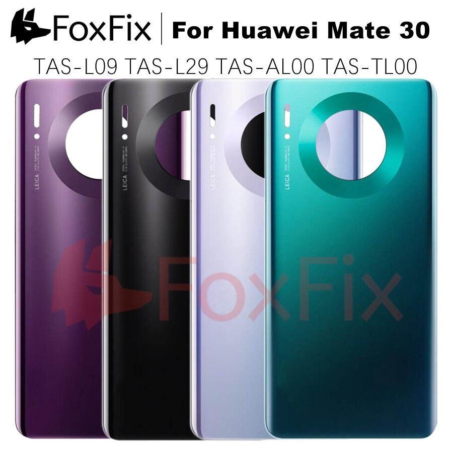 Для Huawei Mate 30 Задняя крышка батареи стеклянная панель Mate30 задняя дверь окно корпус чехол для Huawei Mate 30 Задняя крышка батареи
