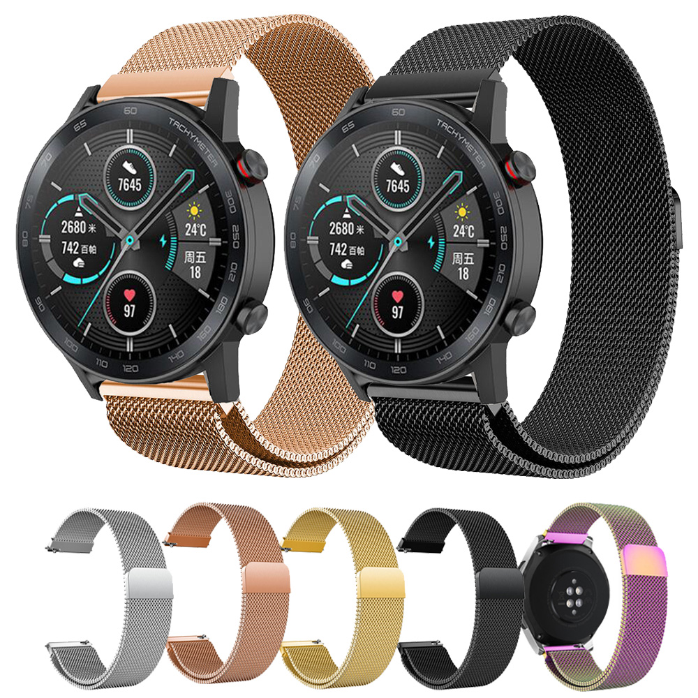 For Huawei Honor magic Watch 2 GT GT2 46mm 42mm Watchband Magnetic Milanese Bracelet Stainless