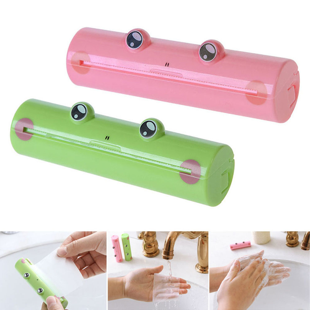 Portable Frog Hand Wash Paper Soap Foaming Body Washing Bath Soap Slice Boxed Travel Soap Sheets Hand Washing Soap TSLM1