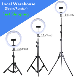 Photography LED Selfie Ring Light 10inch Dimmable Camera Phone 26CM Ring Lamp With Stand Tripod For Makeup Video Live Studio
