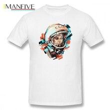 CCCP Yuri Gagarin T Shirt Custom Short Sleeve Brand-clothing Summer Swag Oversize Cotton Mens Shirts