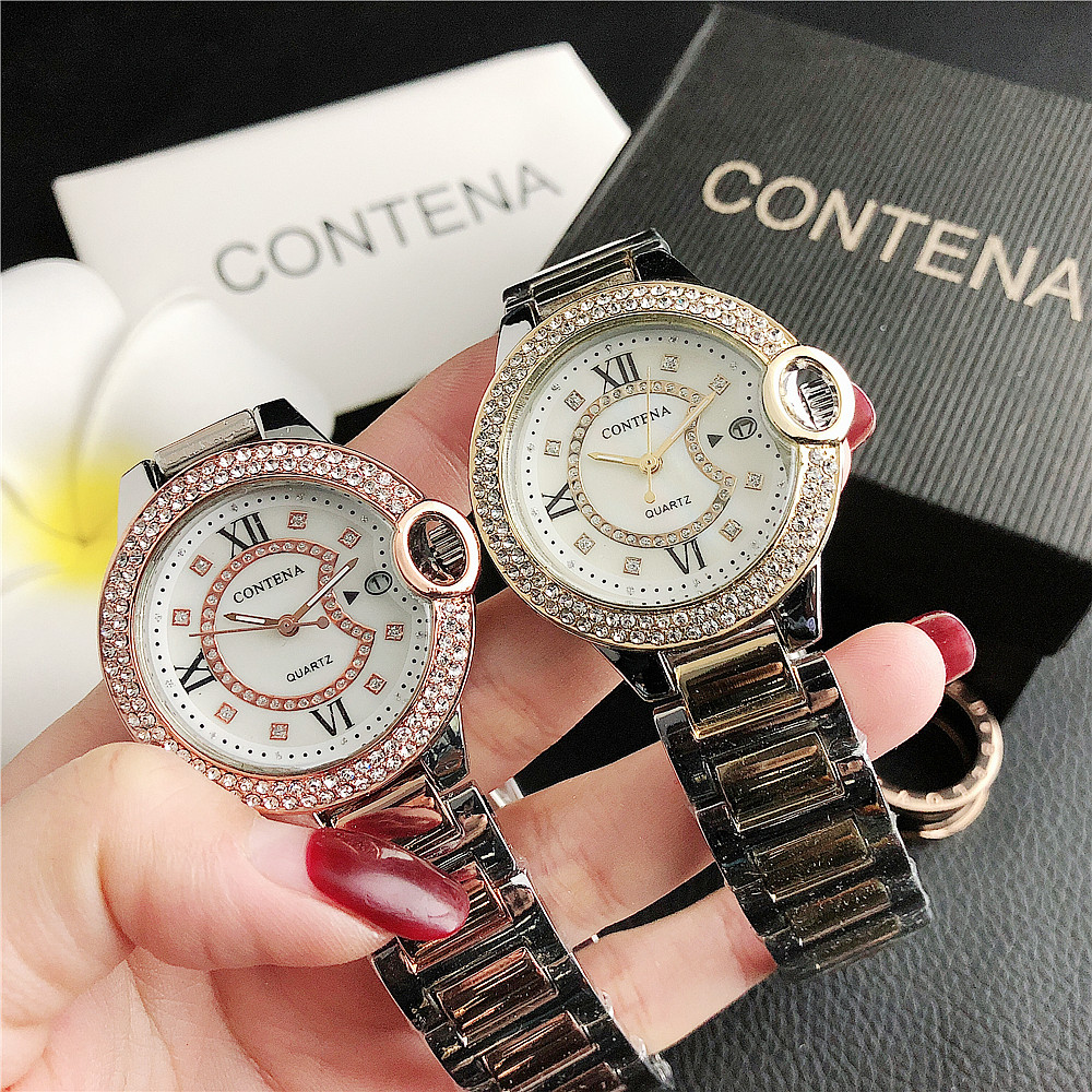 7298      New Fashion Diamond Dial Women's Watch Wholesale