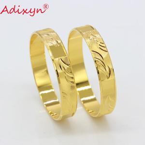Adixyn/2 шт., золотой цвет, для девочек/малышей/детей, браслет и браслет для детей, подарок на день рождения, N080812