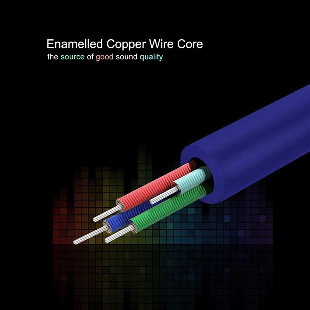 LDAMAI Jack 3.5 kabel Audio 3.5mm Jack z męskiego na męskie Audio przewód aux dla iPhone Samsung samochodowy zestaw słuchawkowy z głośnikiem przewód linii przewód aux