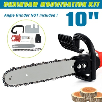 """10"""" Angle Grinder DIY Electric Saw Chainsaw Transfer Conversion Head set 100 Angle Grinder Into Chain Saw Electric Saw Parts"""