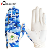Golf-Gloves All-Weather-Grip Men with Cool Left Right Hand-Size XL Blue Camouflage-Design