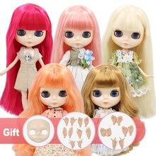 ICY DBS Blyth doll 1/6 흰색 피부, 광택 얼굴, 소녀 선물, 장난감이있는 누드 조인트 바디 맞춤형