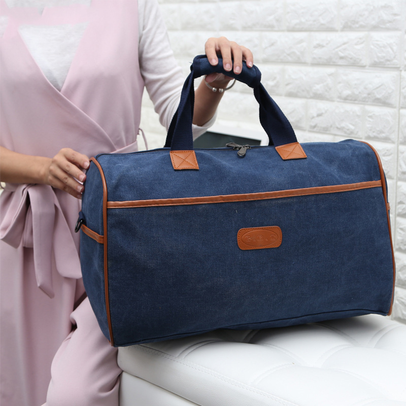 Manufacturers Korean-style Short Trip Canvas Travelling Bag Women's Leisure Bag Large Capacity Bag Travel Bag Fitness Hand On Be