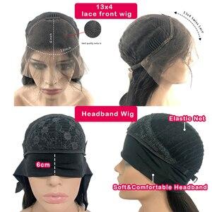 Image 5 - פיקסי לחתוך פאת תחרה מול פאות גלי קצר בוב רמי שיער 150% Glueless מתולתל שיער טבעי פאה מראש קטף קו שיער מולבן קשר
