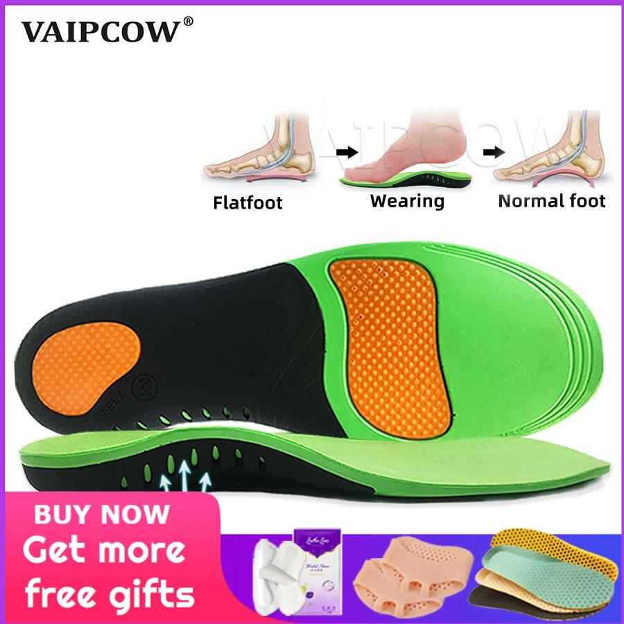 VAIPCOW High Quality EVA Orthotic Insole For Flat Feet Arch Support Orthopedic Shoes Sole Insoles For Men And Women Shoe Pads